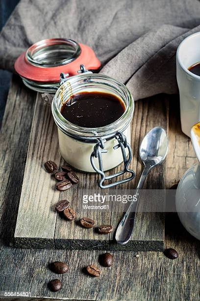 Panna Cotta with espresso syrup
