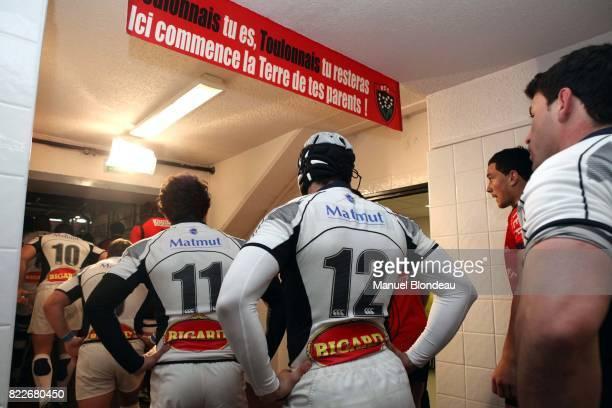 Panneau avant de rentrer sur le terrain Toulon / Castres 22eme journee de Top 14