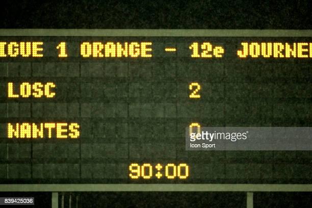 Panneau d'affichage Lille / Nantes 12 eme Journee de Ligue 1