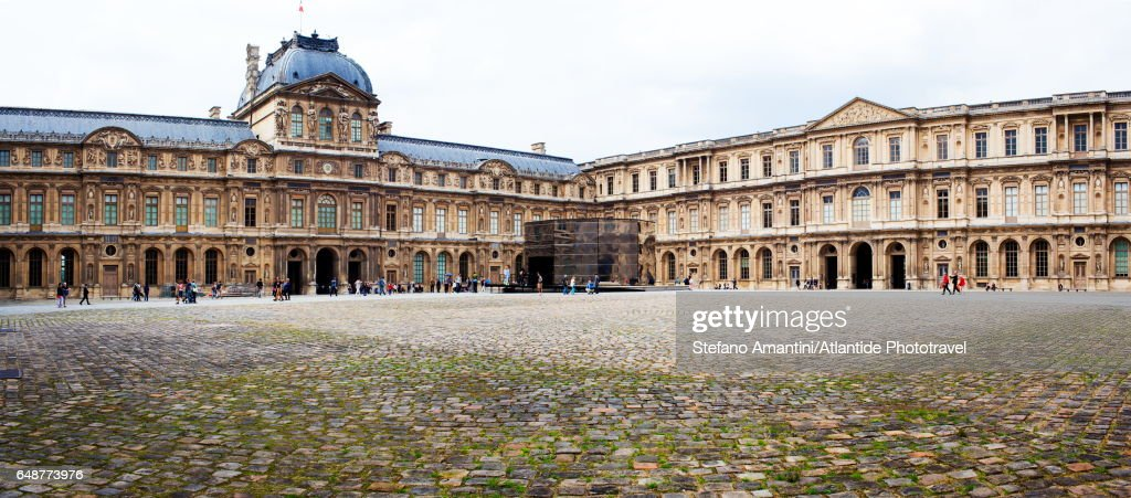Panorama by Eva Jospin, Cour Carrée, the Louvre : Photo
