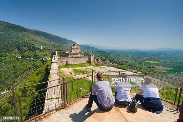 Panorama dal torrione rocca maggiore assisi umbria italia