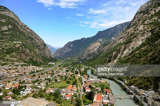 Panorama della bassa Valle d'Aosta