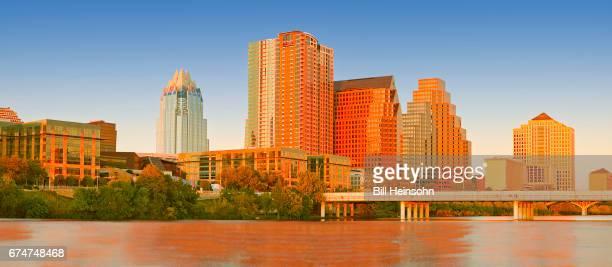 Panorama Downtown Austin, Texas, Skyline and Lady Bird Lake
