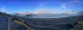 Panorama early morning on the Oregon Coast