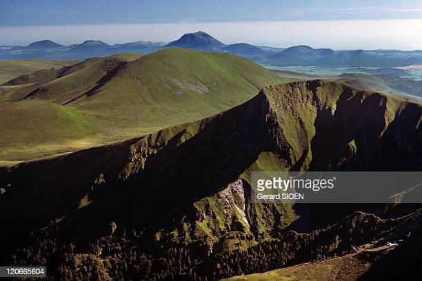 Panorama From the Puy De Sancy 1885M the Dore Mountains in the Background the Domes Mountains Auvergne in France Puy de Dome panorama from the puy de...