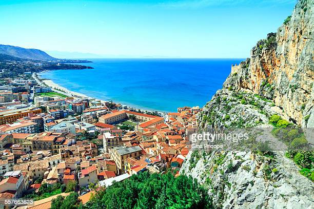 Panorama from the Rock of Cefalu in Sicily