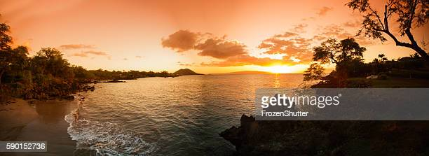 Panorama image of a Hawaiian beach