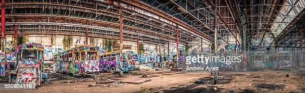 Panorama image of Rozelle Tram Depot