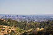 Panorama landscape of Los Angeles California as seen from Griffiths park.