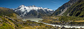 Panorama Aoraki / Mount Cook National Park, New Zealand.