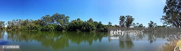 Panorama Murray River at Noreuil Park, Albury, NSW, Australia