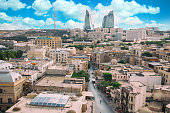 panorama Baku city in he morning, Azerbaijan