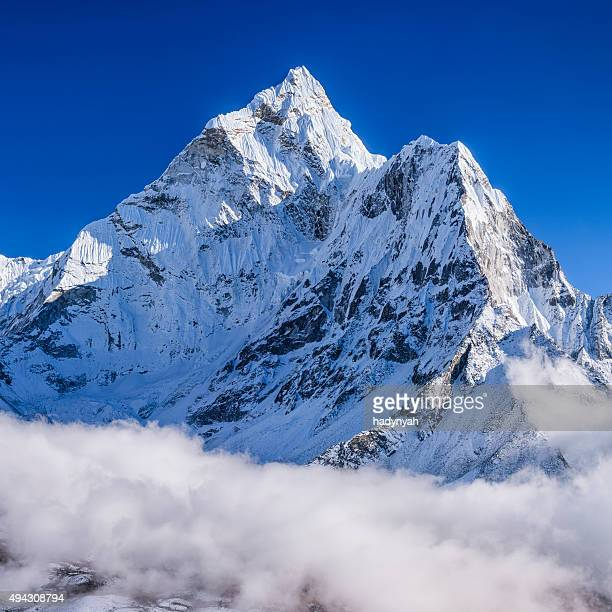 Panorama of beautiful Mount Ama Dablam in  Himalayas, Nepal