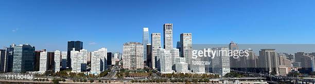 Panorama of Beijing Central Business district buildings skyline, China cityscape