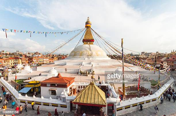 Panorama of Bodhnath Stupa in the Kathmandu valley