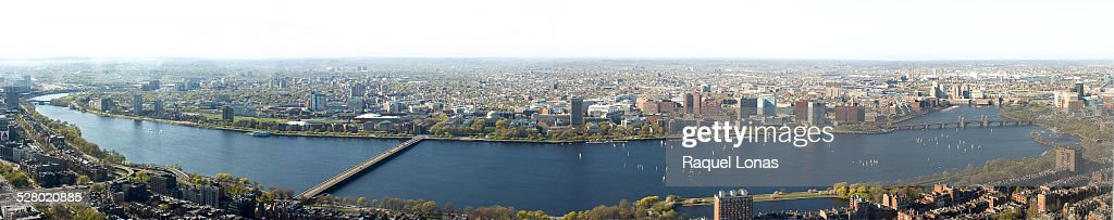 Panorama of Charles River, Boston and Cambridge