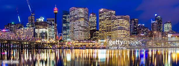 Panorama of Darling Harbour in Sydney