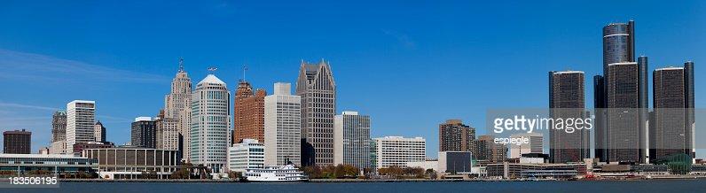 'Panorama of Detroit, Michigan'
