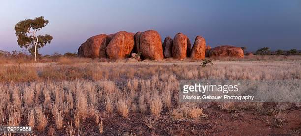 Panorama of Devils Marbles, Australia