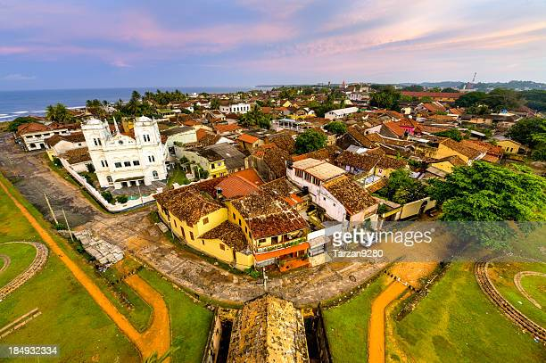 Panorama of Galle city at morning time, Sri Lanka