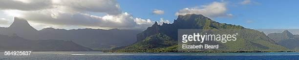 Panorama of island of Moorea, French Polynesia