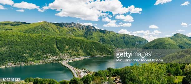 Panorama of lake Lugano