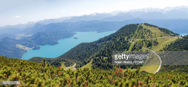 Panorama of lake walchensee