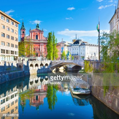 Panorama of Ljubljana, Slovenia, Europe. : Stock Photo