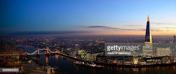 Panorama of London at dusk