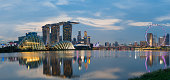 Marina bay is one of the most famous area in Singapore which has many landmark