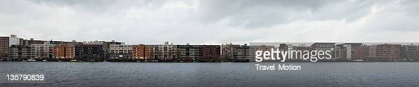Panorama of modern architecture on Java-island, Amsterdam, The Netherlands