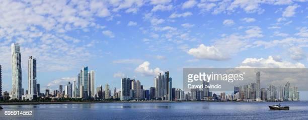 モダンなパナマシティ、パナマでは、中央アメリカのパノラマ。