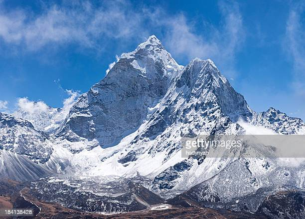Panorama of Mount Ama Dablam in Nepal