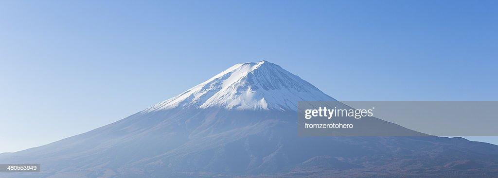 Panorama de monte de Fuji vista do Kawaguchi-ko Lago.  Yamanashi.  Jap : Foto de stock