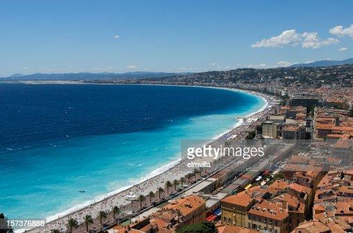 Panorama of Nice Beach