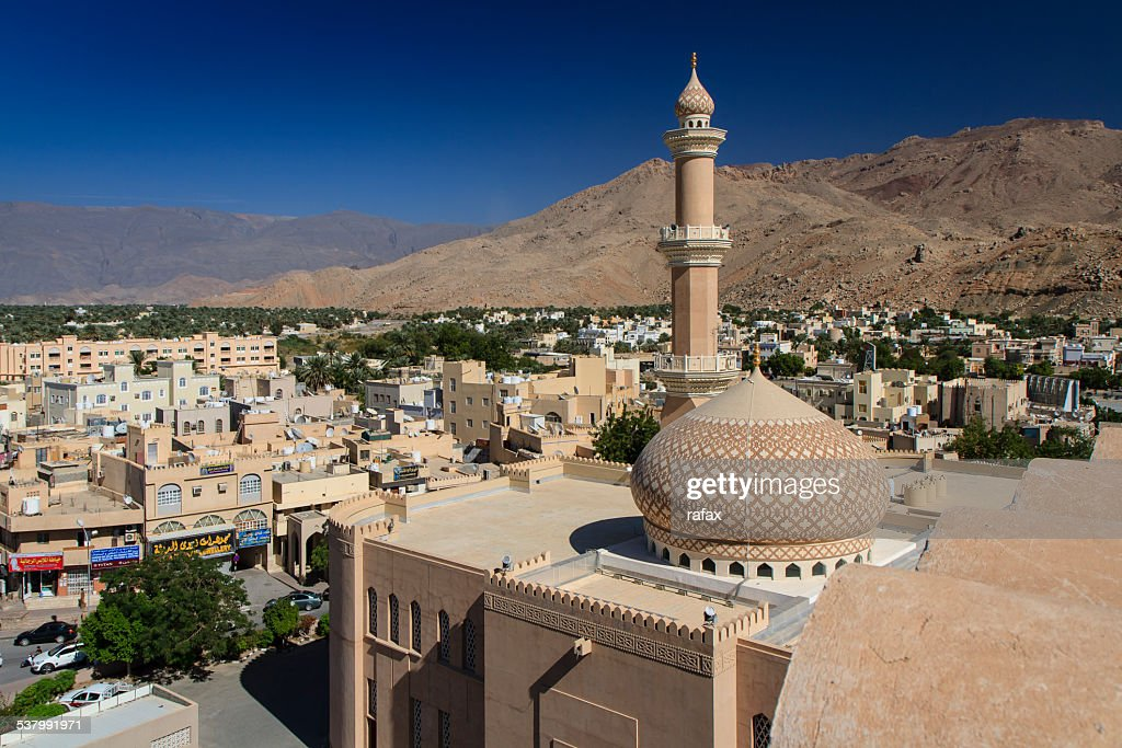 Panorama of Nizwa, seen from fort, Oman