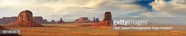 Panorama of North Window Area of Monument Valley