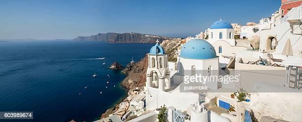 Panorama of Oia village in Santorini island of Greece