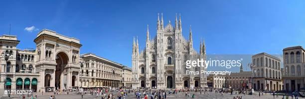 Panorama of Piazza del Duomo, Milan, Italy
