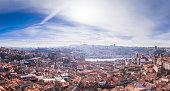 Panorama of Porto city
