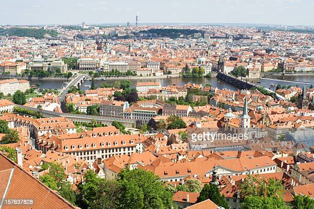 Panorama of Prague from St. Vit Cathedral