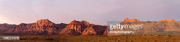 Panorama of Red Rocks Canyon landscape