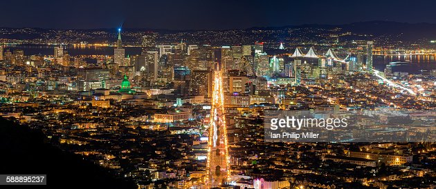 Panorama of San Francisco cityscape, CA USA