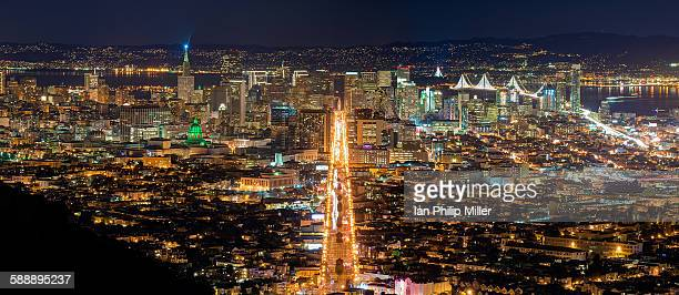 Panorama of San Francisco cityscape, CA USA