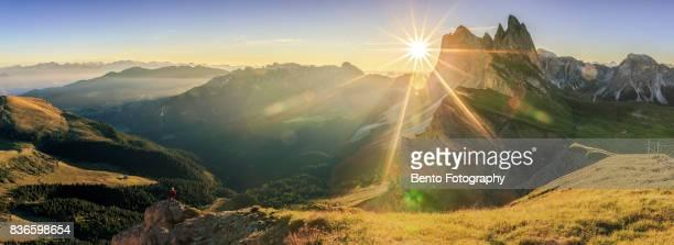 Panorama of Seceda, Dolomite, Italy