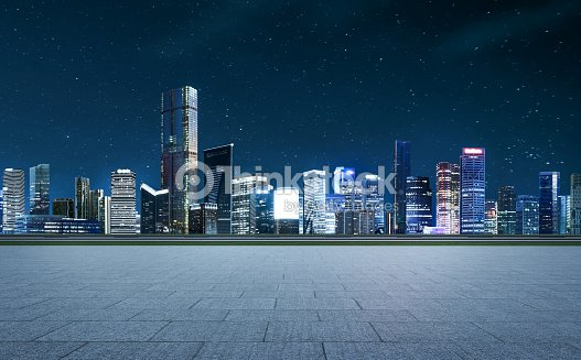 Panorama of skyscrapers in a modern city : Stock Photo