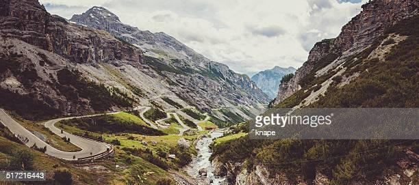 Panorama von Stelvio pass in Italien
