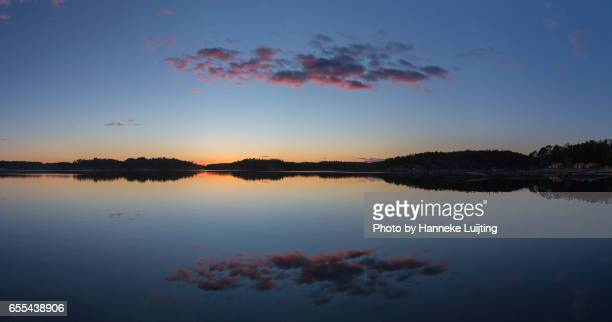 Panorama of Swedish Sunset