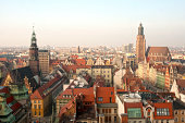 Panorama of the city of Wroclaw