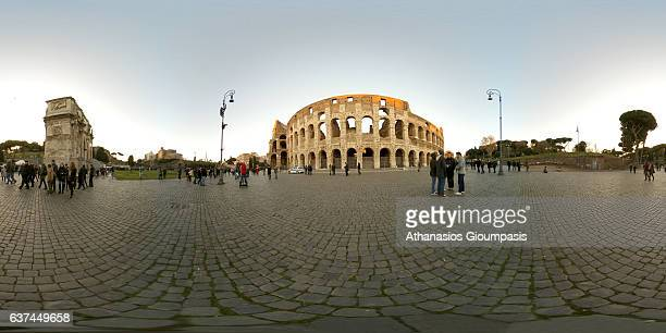 Panorama of the Colosseum also known as the The Flavian Amphitheatre on December 30 2016 in Rome Italy The Colosseum or the Flavian Amphitheatre is...